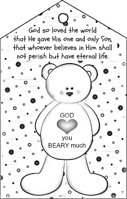 gods love coloring page god